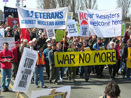 peaceful antiwar protest